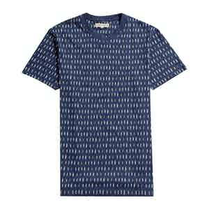 Blue Organic Cotton Surfboard Printed T-Shirt
