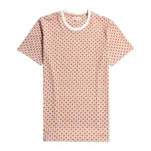 Arabesque Orange Organic Cotton Sunbeam Printed T-Shirt