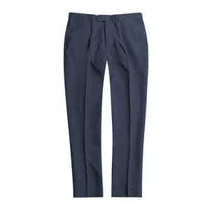 Cool Grey Linen Pleated Trousers