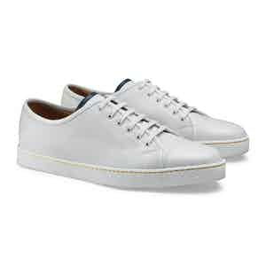 White Calf Leather and Rubber Levah Plimsoll Shoe