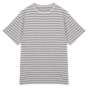 Grey Striped Cotton TS04 T-Shirt