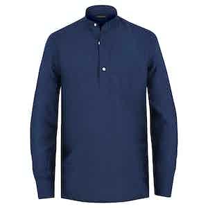 Blue Linen Guru Shirt