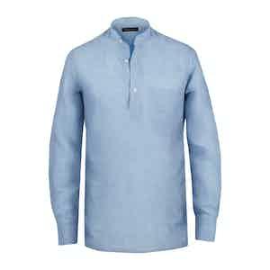 Light Blue Linen Guru Shirt