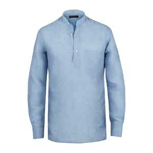 Light Blue Linen Guru Shirt
