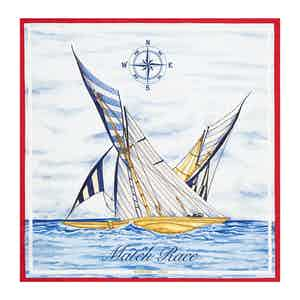 White Silk Match Race Luna Rossa Team Scarf