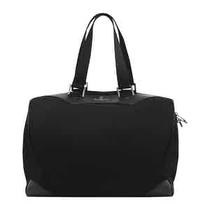 Black Poly Canvas Travel Bag