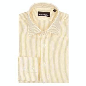 Yellow Linen Striped Sexton Shirt