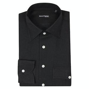 Black Linen Safari Shirt