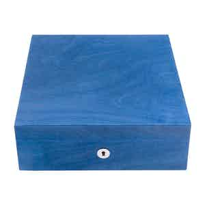 Blue Wood Heritage Four Watch Box