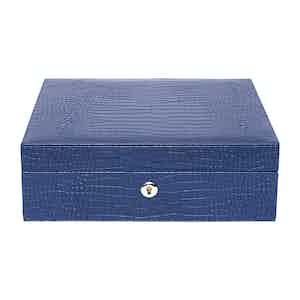 Blue Leather Brompton Watch Box