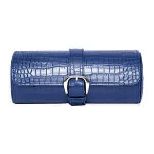 Blue Leather Brompton Watch Roll