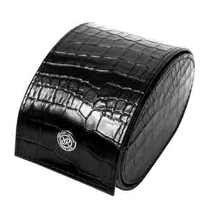Black Leather Director's Range Single Watch Roll