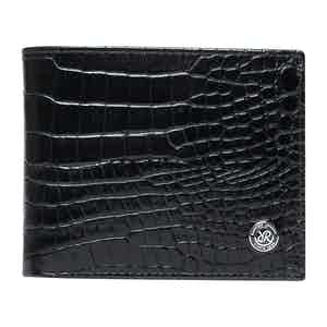 Black Leather Director's Range Billfold Wallet