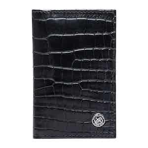 Black Leather Director's Range Card Holder Wallet