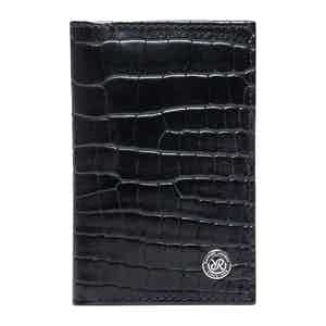 Black Leather Director's Range Card Holder Wallet