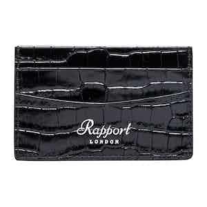 Black Leather Director's Range Credit Card Holder