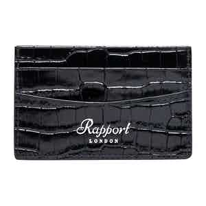 Black Leather Director's Range Credit Card Holder