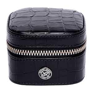 Black Leather Director's Range Small Stud Box