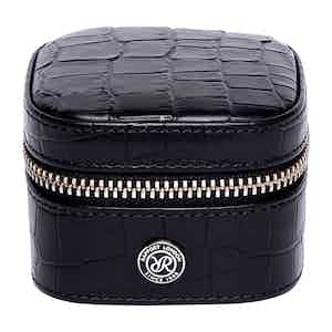 Black Leather Director's Range Small Stud Box