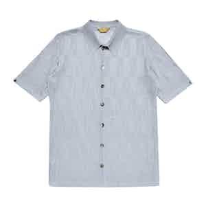 Blue Grey Serie-Knit Valli Polo Shirt