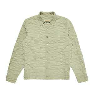 Khaki Green Cotton Lumely Shirt Jacket