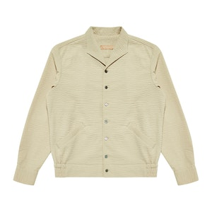 Sand Beige Cotton Guise Shirt Jacket