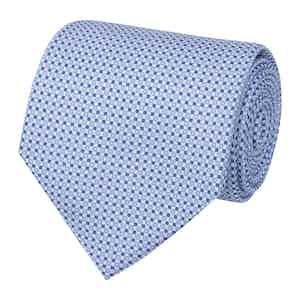 Light Blue Dotted Silk Tie