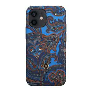 Blue and Red Paisley Silk 1937 iPhone 12 Mini Case