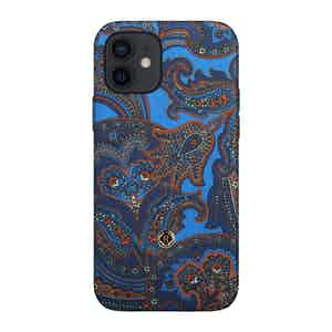 Blue and Red Paisley Silk 1937 iPhone 12/12 Pro Case