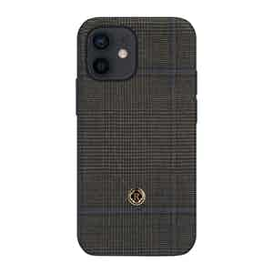 Dark Grey Prince of Wales Check Ischia iPhone 12 Mini Case