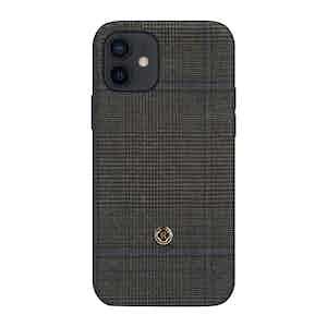 Dark Grey Prince of Wales Check Ischia iPhone 12/12 Pro Case