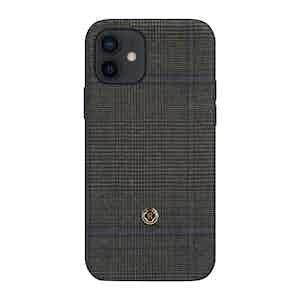 Dark Grey Prince of Wales Check Ischia iPhone 12/12 Pro Case