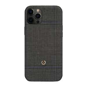 Dark Grey Prince of Wales Check Ischia iPhone 12 Pro Max Case