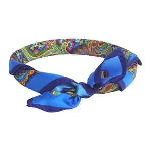 Multicoloured Silk Grand Tour Soleil Neckerchief