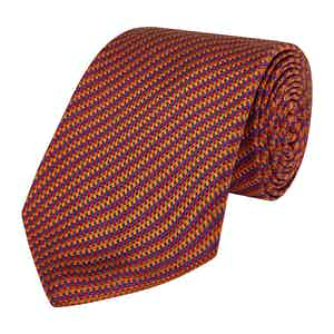 Red Silk Striped Die Another Day Tie