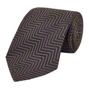 Brown Silk Zig Zag The World Is Not Enough Tie