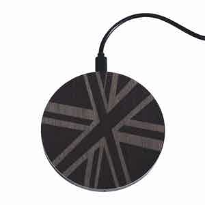 Charcoal Union Jack Flag Wireless Charger