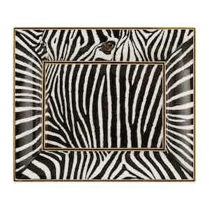 Black Fine Bone China Vide Poche Zebra Ashtray