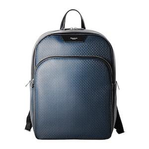 Blue Ocean Calf Leather Stepan Coated Canvas Backpack