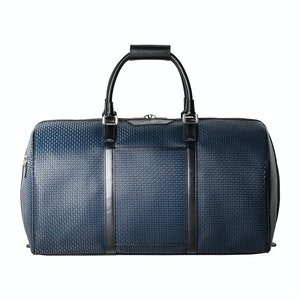 Ocean Blue Calf Leather Stepan Holdall Bag
