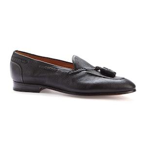 Brown Deerskin Calf Tassel Loafers