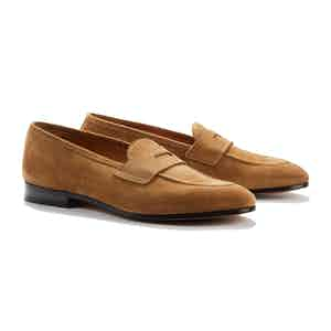 Brown Suede Lawrence Penny Loafers