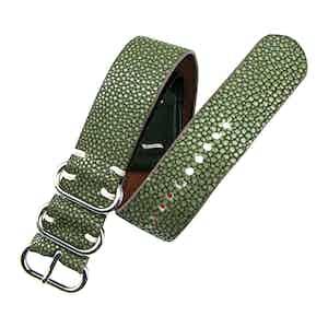 Military Green Stingray Leather NATO Strap