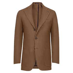 Tobacco Brown Linen Jacket