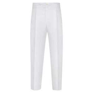 White Linen Leisure Trousers