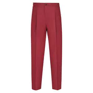 Red Linen Leisure Trousers