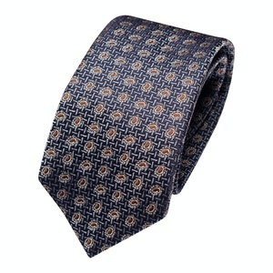 Dark Blue Silk Paisley Classic Tie