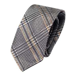 Light Blue Silk Check Classic Tie