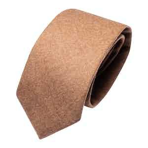 Beige Wool Classic Tie