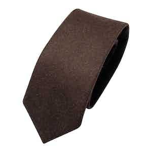 Brown Wool Classic Tie